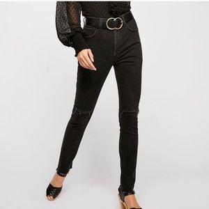 Free People Stella High Waist Distressed Jeans
